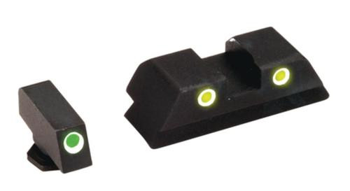 AmeriGlo Classic For Glock Night Sight Set Green/Yellow