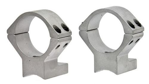 """Talley Med Rings & Base Set T/C Encore/Pro Hunter 1"""" Style Silver Finish"""