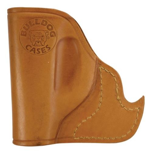 Bulldog Inside the Pocket Small Automatic Handgun Holster Leather Tan