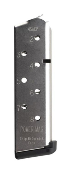 Chip McCormick Custom Colt 1911 Power Mag 45 ACP8 rd Stainless