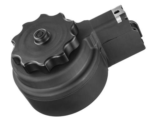 XS M1A/M14 High Capacity Drum Magazine, 50 Round, Black