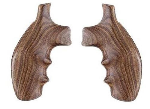 Hogue S&W K/L Frame Round Butt Hardwood Grip, Finger Grooves Pau Ferro