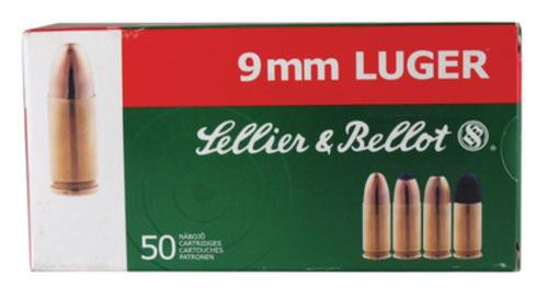 Sellier and Bellot 9mm/9mm Para 115 JHP 50Rd/Box