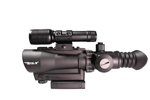 "BSA Tactical 1x 30mm Obj 2"" Eye Relief Black, With Flashlight"