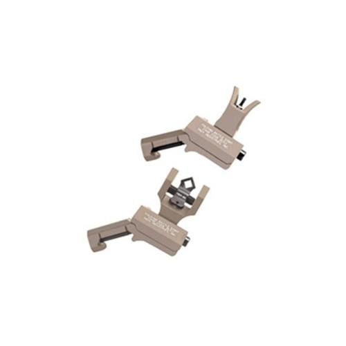 Troy 45 Degree Offset Folding BattleSights for M4 Front and Dioptic Rear Flat Dark Earth