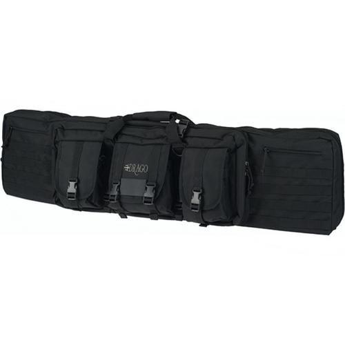 """Drago Gear 12-304BL Tactical Gun Case 46"""" 600 Denier Polyester Black"""