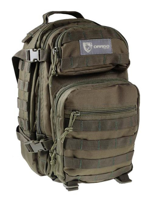 "Drago Gear Scout Backpack Tactical 600D Polyester 16""x10""x10 Green"