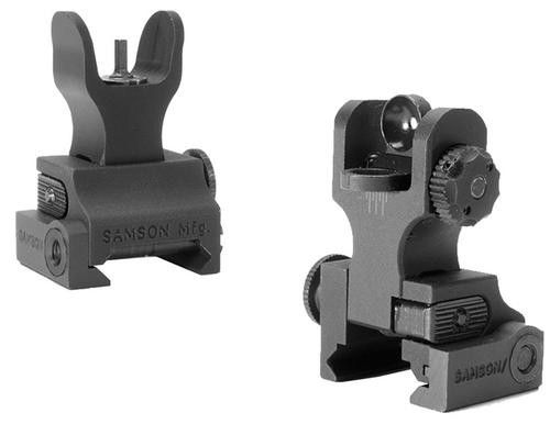 Samson Quick Flip HK Front/A2 Rear Rail Mount, AR-15, Alum Black