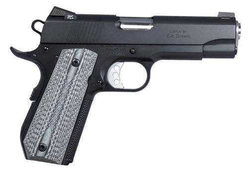 "Ed Brown Special Forces Carry SOA 45 ACP 4"" Barrel7+1 Black/Gray G10 Grip Black Gen4"
