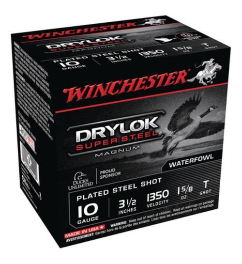 "Winchester Super-X Drylok Plated SuperSteel 10 Ga, 3.5"", 1-5/8oz, T Shot, 25rd/Box"