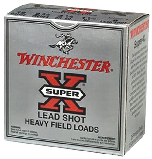 "Winchester Super-X Heavy Game Load 12 Ga, 2.75"", 1.1oz, 4 Shot, 25rd/Box"