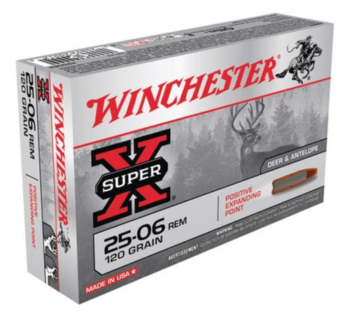 Winchester Super X 25-06 Rem Positive Expanding Point 120gr, 20Box/10Case
