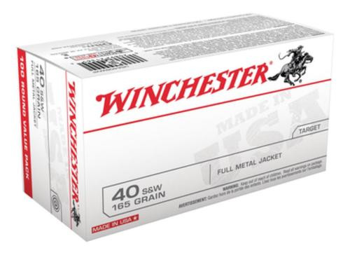 Winchester USA .40 SW 165 Gr, FMJ, 100rd/Box