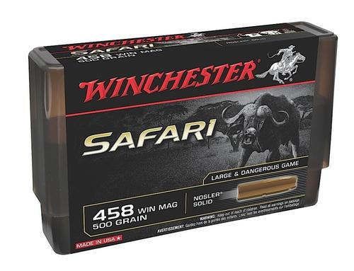 Winchester 458 Win Mag 500gr, NOS Solid, 20rd Boxe