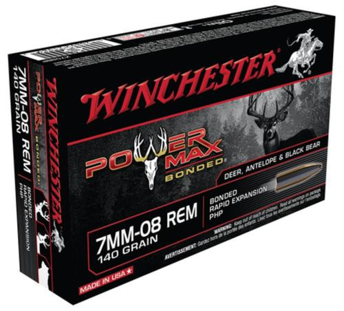 Winchester Power-Max 7mm-08 Remington 140gr, Protected Hollow Point Bonded