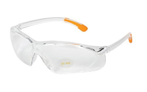 Allen Shooting Glasses, Clear/Orange Finish