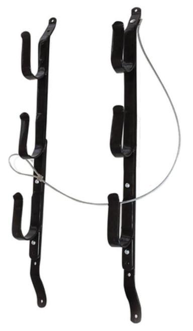 Allen Three Gun Locking Gun Rack Black Includes Cable But No Lock