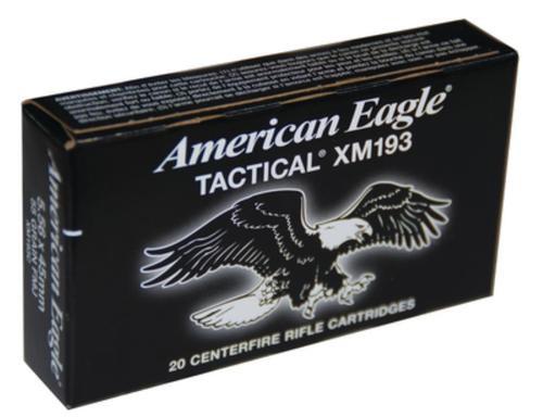 Federal American Eagle .223 55gr, Full Metal Jacket, 100rd/Value Pack