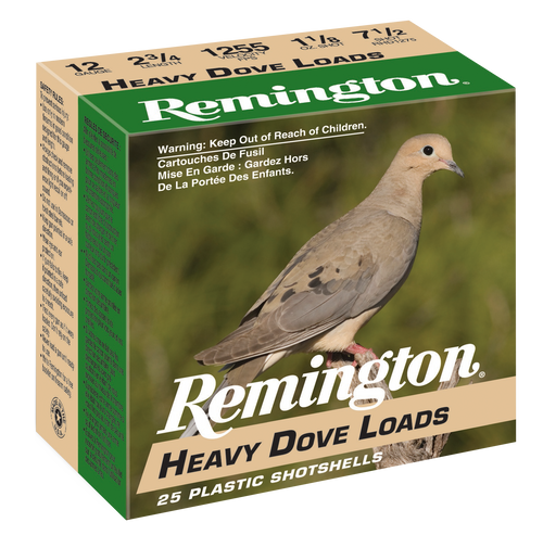 Remington Shurshot Heavy Dove Loads 20 Ga 2.75 1oz 6 Shot 25rd/Box 10 Box/Case