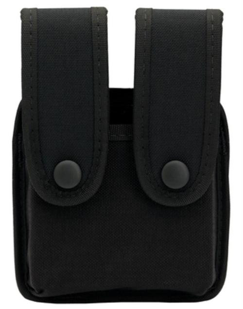 """Uncle Mike's Double Mag Pouch, Fits Belts up to 2.25"""" Wide Black Nylon"""