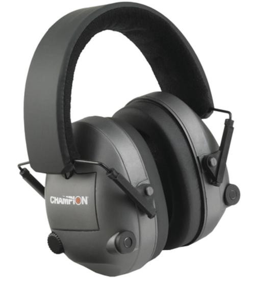 Champion Electronic Ear Muff 25 Db Noise Reduction, Black