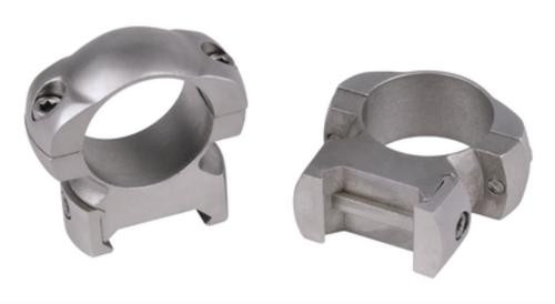 Weaver Grand Slam Steel Top Mount Rings 1 Inch Medium Silver
