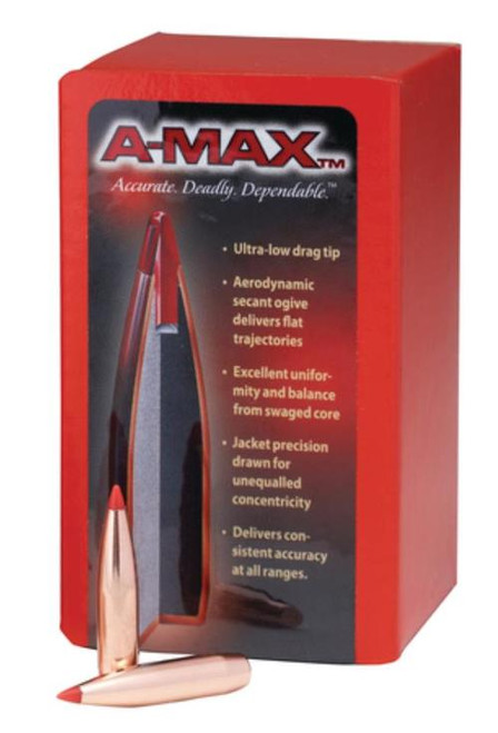 Hornady A-Max Match Bullets .224 Diameter 80 Grain Boat Tail