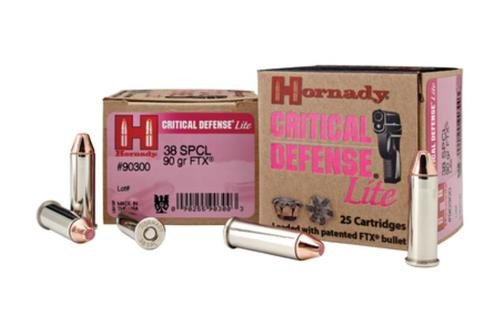Hornady Critical Defense Lite 9mm 100gr, FTX, 25rd/Box