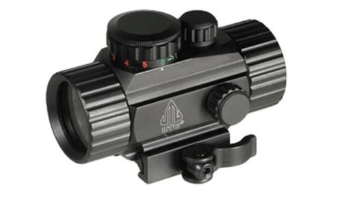 """Leapers, Inc. - UTG Instant Target Aiming Sight, 3.8"""", 38mm, Black, Red/Green Circle Dot, Integral QD Mount"""