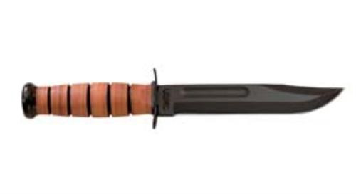 "Kabar USMC Fight 7"" 1095 CroVan Straight Leather Handle & Sheath"