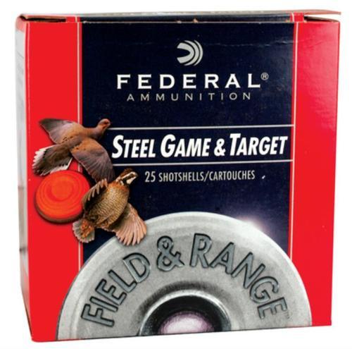 "Federal Field and Range Steel 28 Ga, 2.75"", 1300 FPS, .625oz, 6 Shot, 25rd Box"