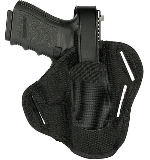 Blackhawk 3-Slot Ambidextrous Pancake Holster, Size 04, For Glock 26/27/33 and Other Sub-Compact 9mm/.40 Caliber, Black