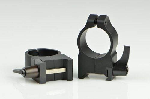 Warne 1 Inch, QD, High Matte Rings, Steel, Fixed for Maxima/Weaver Style or Picatinny Bases
