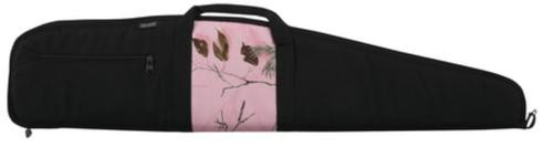 Bulldog Cases Black Scoped Rifle Case With APHD Pink Camo Panel And Black Trim 44 Inches