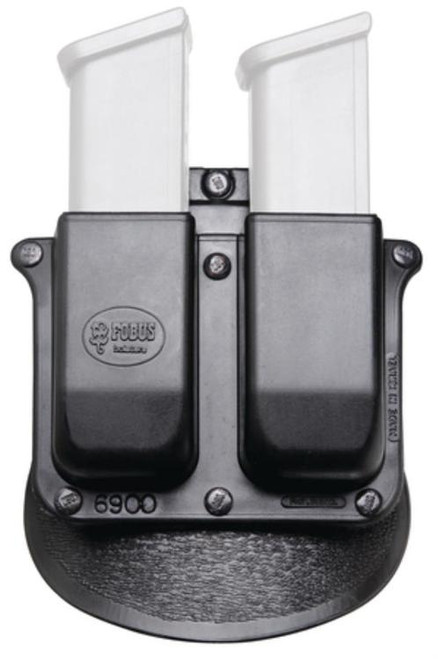 Fobus, Magazine Pouch, Double Mag Paddle, Fits .22/.380 Single-Stack Magazines Except Glock, Ambidextrous