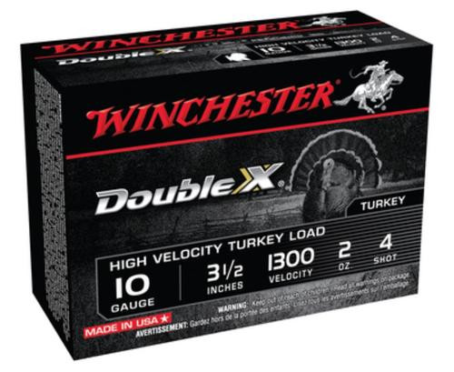 "Winchester Supreme Double X Turkey 10 Ga, 3.5"", 2oz, 4 Shot, 10rd/Box"