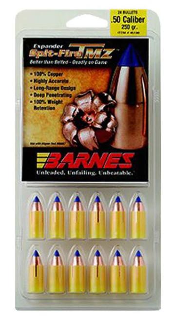 Barnes 45172 Muzzleloader 50 Black Powder Spit-Fire TMZ 250gr, 15Pk