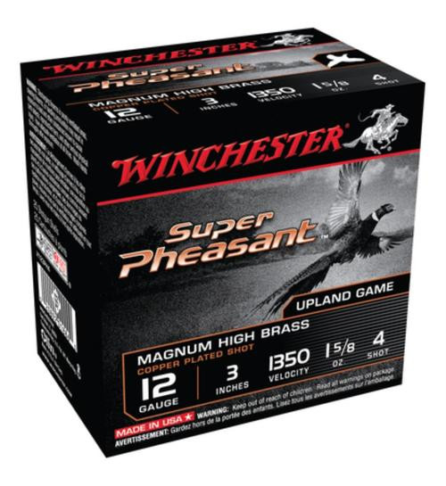 "Winchester Super-X Pheasant 12 Ga, 3"", 1350 FPS, 1.625oz, 4 Shot, 25rd/Box"
