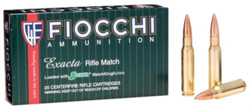 Fiocchi Exacta Rifle Match .308 Win 180 Gr, Hollow Point, Boat-tail, Matchking, 20rd Box