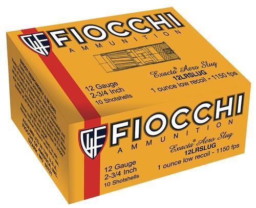 """Fiocchi Rifled Slug 12ga 2.75"""" 7/8oz Plano Box, 80rd/Box"""