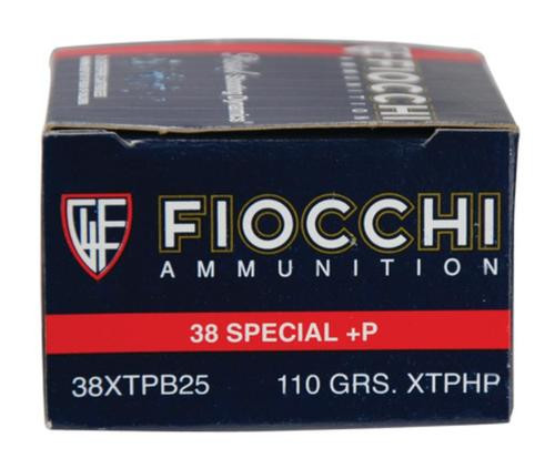 Fiocchi Extrema .38 S&W Special +P 110gr, XTP Hollow Point 25rd/Box