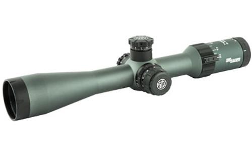 Sig Tango4 Scope 3-12X42mm 30mm FFP 556-762 Horseshoe Illum Reticle Side Focus 0.25 MOA Graphite