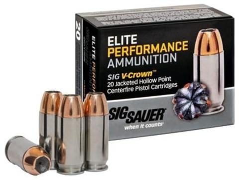 Sig Elite Performance V-Crown 45 ACP 200gr, JHPoint, 50rd Box
