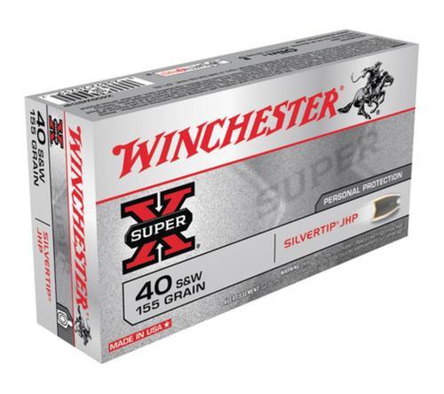 Winchester Super-X 40 S&W Silvertip HP 155gr, 50rd Box