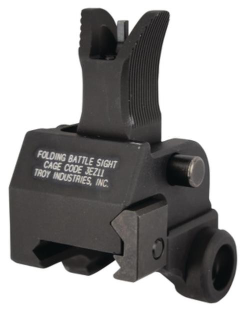 Troy Front M4 Folding Gas Block Mounted Battlesight Black