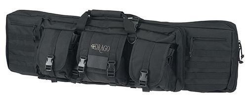 """Drago Gear Tactical Double Gun Case, 42"""", 600D Polyester, Black"""