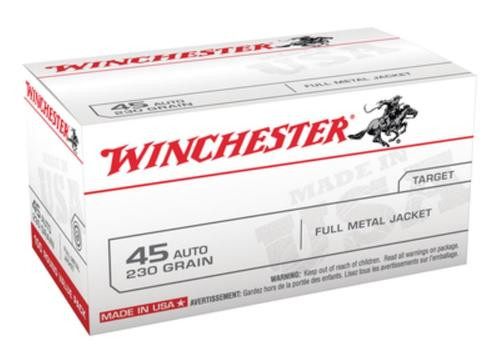 Winchester USA .45 ACP, 230gr, FMJ, 100rd Box