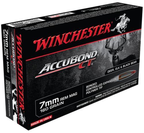 Winchester Supreme 7mm Rem Mag AccuBond CT 160gr, 20Box/10Case