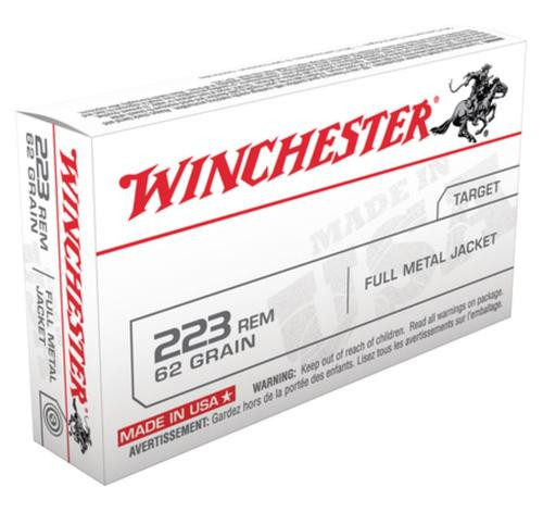 Winchester USA 223 Remington/5.56 NATO FMJ 62gr, 20Box
