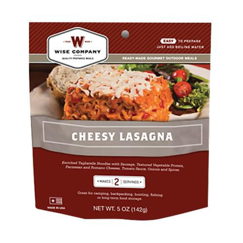 Wise Foods Outdoor Camping Pouches Cheesy Lasagna 6 Count
